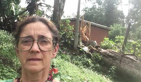 Adriana Abelhão denuncia gradual destruição da natureza em Itacoaciara (Itapecerica da Serra-SP).
