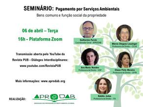 06/04 - SEMINÁRIO: Pagamento por Serviços Ambientais
