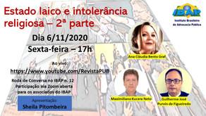 RODA DE CONVERSA NO IBAP #12: Estado Laico e Intolerância Religiosa II