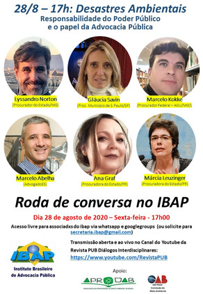 RODA DE CONVERSA NO IBAP #3: Desastres Ambientais