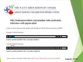 NATO Canada Interview - Healthcare Waste