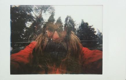 Self portrait on wood Romania 2017