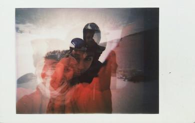 Family Self portrait on snow Roccaraso Italy 2018