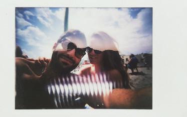 Couple Self portrait on beach Ischia Italy 2017