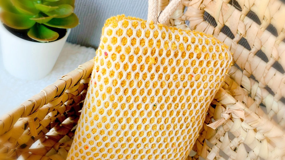 Éponge grattante jaune