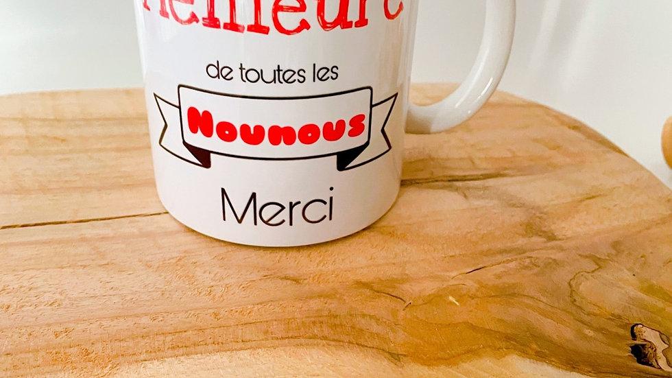 Mug pour la meilleure des Nounous