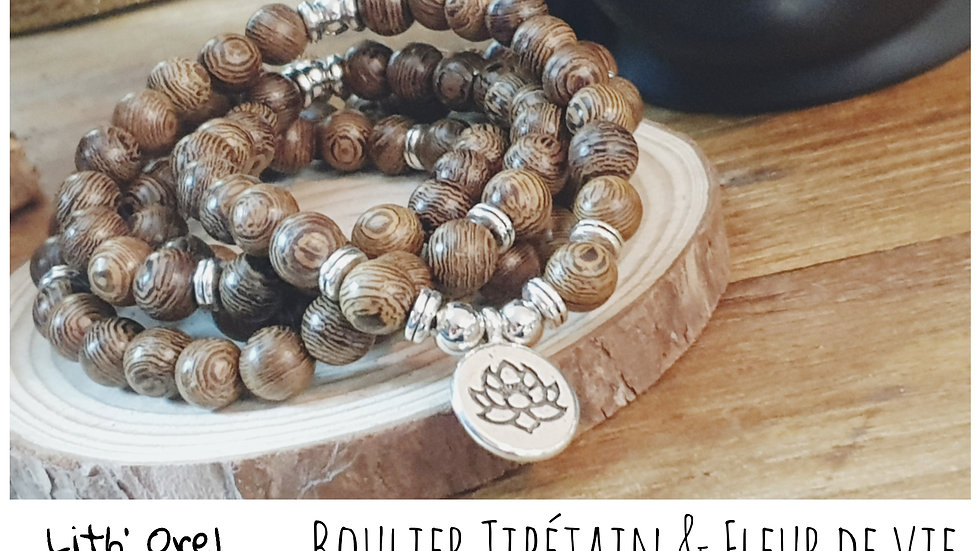 Bracelet Tibétain 108 perles de prières