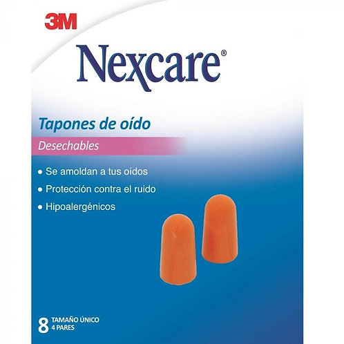 NEXCARE TAPONES DE OIDOS 8UD