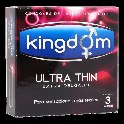 PRESERVATIVO KINGDOM ULTRA THIN 3UD