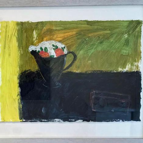 Rose jug, black and yellow