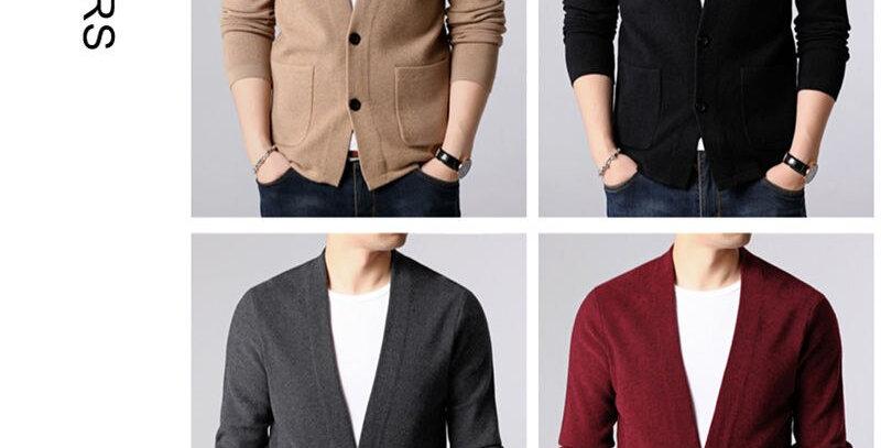 COODRONY Sweater Men Streetwear Sweater Coat Men With Pockets