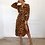 Thumbnail: Casual Leopard Print Long Sleeve Dress