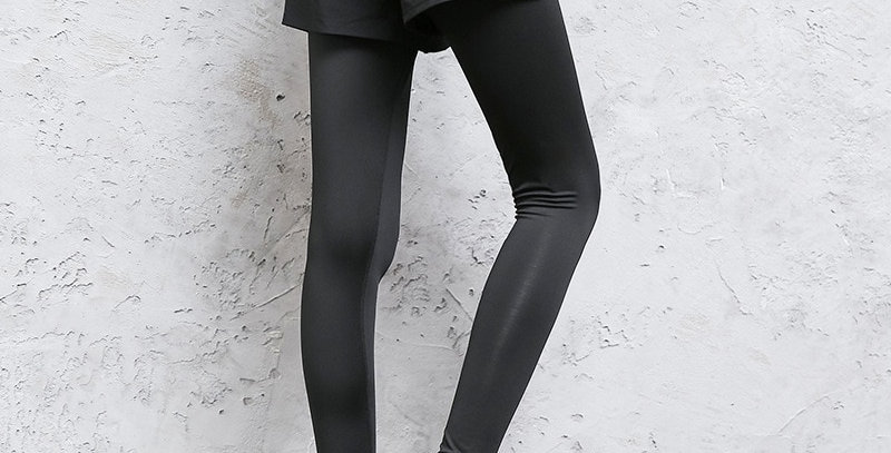2 in 1 Yoga Pants Elastic Running Pant Fitness Slim Leggings for Women