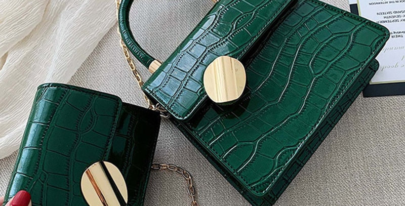Stone Pattern Leather Crossbody Bags for Women