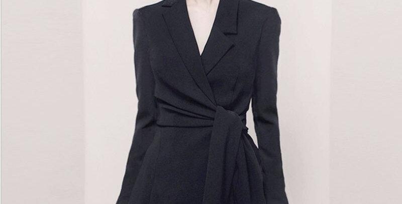 Women Skirt Slim Blazer Two Pieces  Blazer Skirt Set