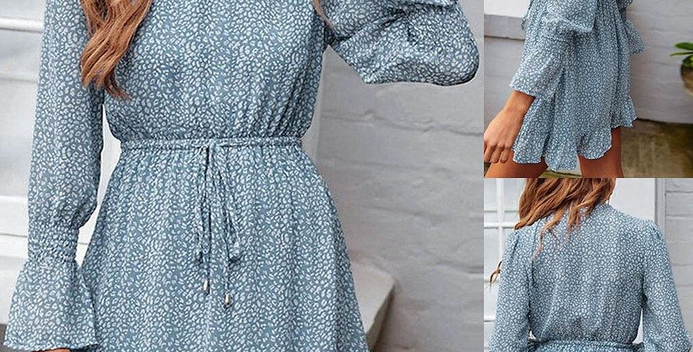 Dress Ruffles Long Sleeve