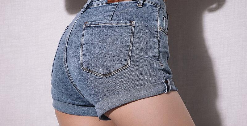 Jeans Mini High Waisted Shorts Women