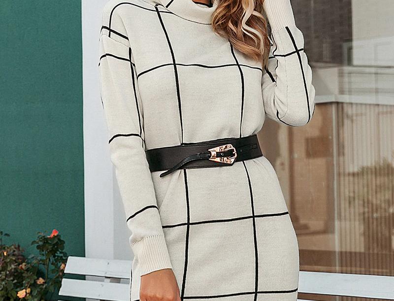 Elegant Women Knitted Dress