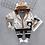 Thumbnail: Cotton Jacket Stripe T-Shirt Pants 3Pcs/Set 0M-4T