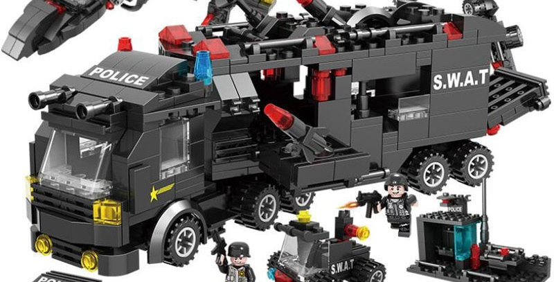 8 in 3 City Police Series SWAT Compatible With Lego