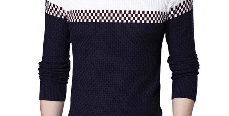 BROWON Sweater Business Leisure Sweater Pullover V-Ausschnitt