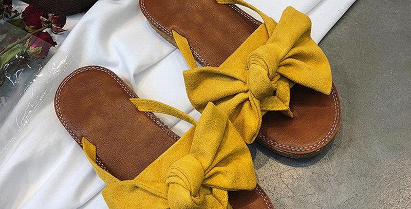 FAYUEKEY Bow Slippers Women Torridity Butterfly Sandals Slipper