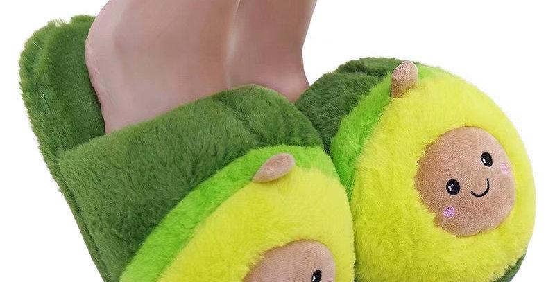 Millffy Cute Women Flip Flop Avocado Slippers Shape