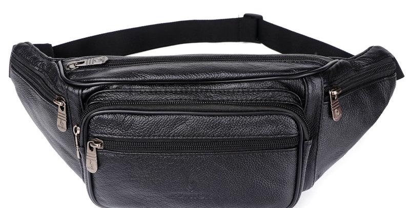 Genuine Leather Waist Bag Men Waist Pack Waist Bag Funny Pack