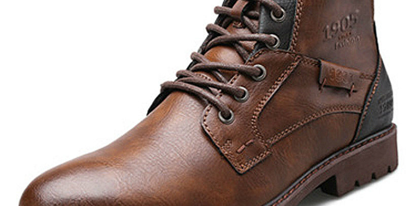 Classic Men's Boots Handmade Men Ankle Boots