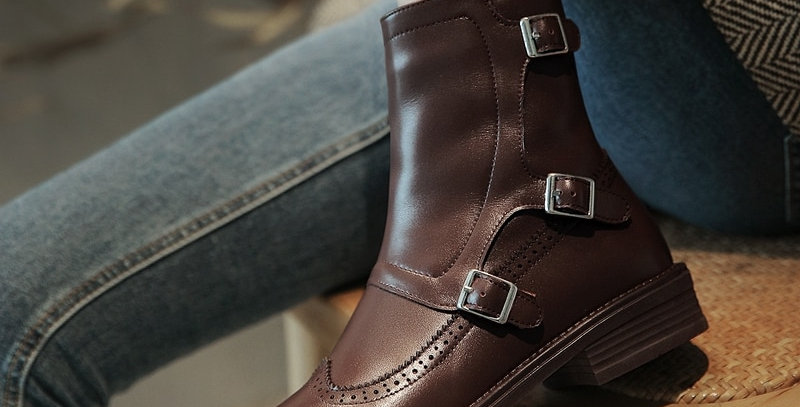 Genuine Leather Round Toe Shoes
