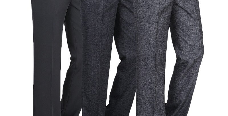 Men Dress Pants Classic Business Casual Straight Trousers