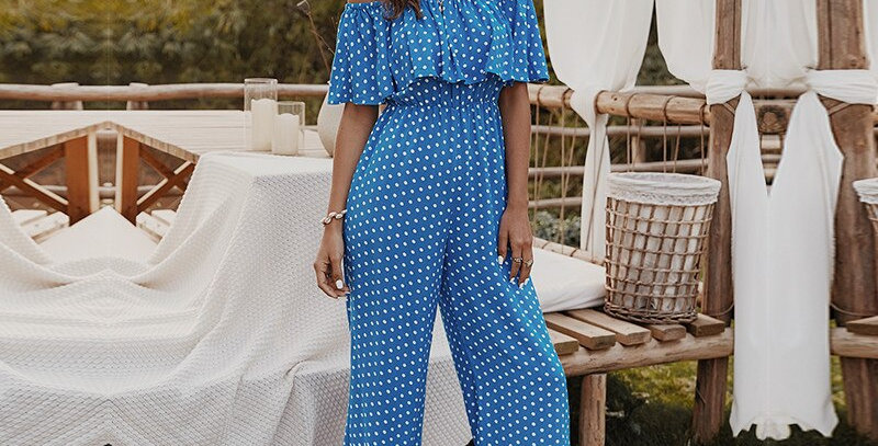 Cotton Loose Casual Print Jumpsuits