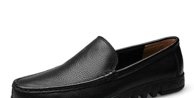 DEKABR Men Shoes Genuine Leather Black Brown Men Flat Shoes Classic