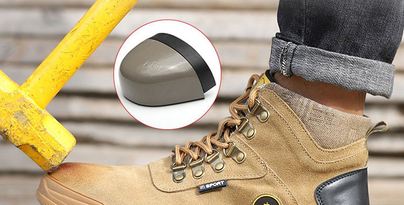 Steel Toe Safety Shoes Men Waterproof Lightweight Anti-Smash Safe Protective