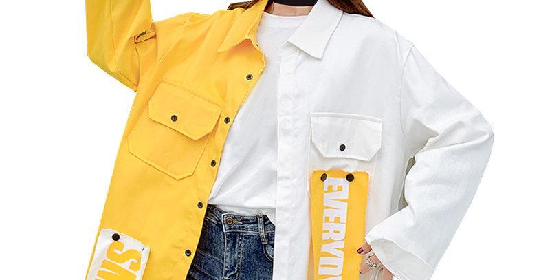 Coat Hip Hop Streetwear Loose Jackets