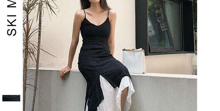 Women Dress Two Pieces Irregular Boho
