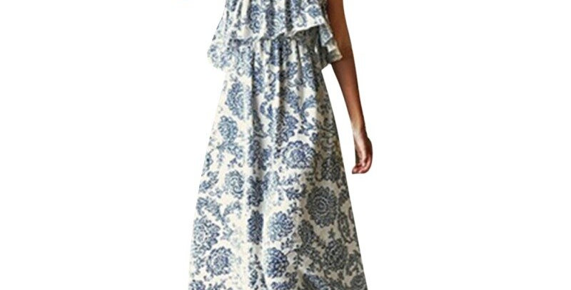 Floral Print Long Dress Women