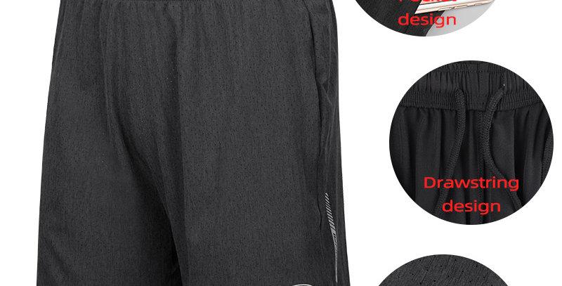 Running Shorts Men Sports Jogger Fitness Pockets Shorts Quick Dry Breathable