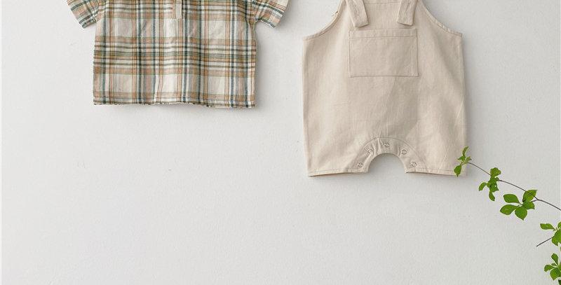 Overalls Baby Set 6-12M