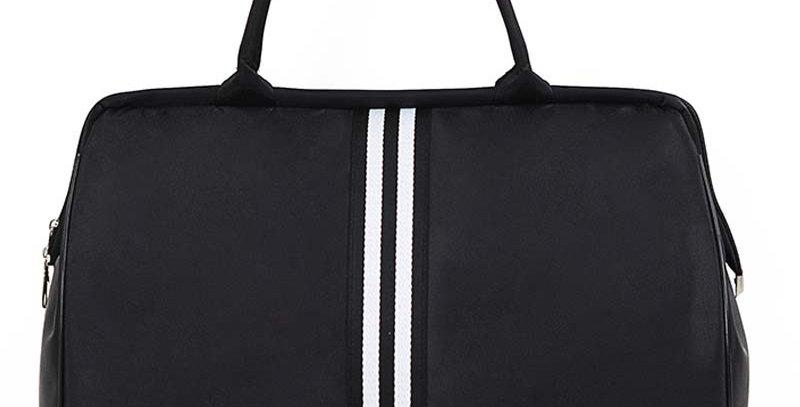 Bolsa Striped Travel Bag Gym Fitness Bags Luggage Traveling