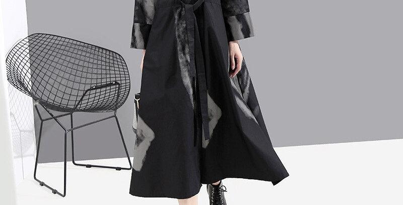 Vintage Cotton Dress Neck Long Sleeve