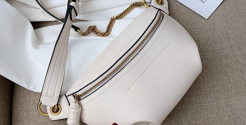 Women Waist Packs Leather Fanny Letter Belt Bags Shoulder Wild
