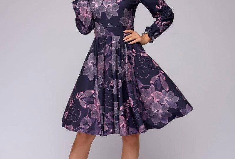 Women's A-Line Printed Dress