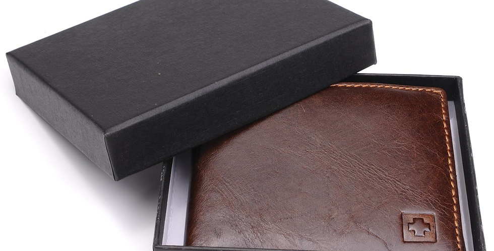100% Genuine Leather Wallet Men New Brand Purses for Men With Gift Box
