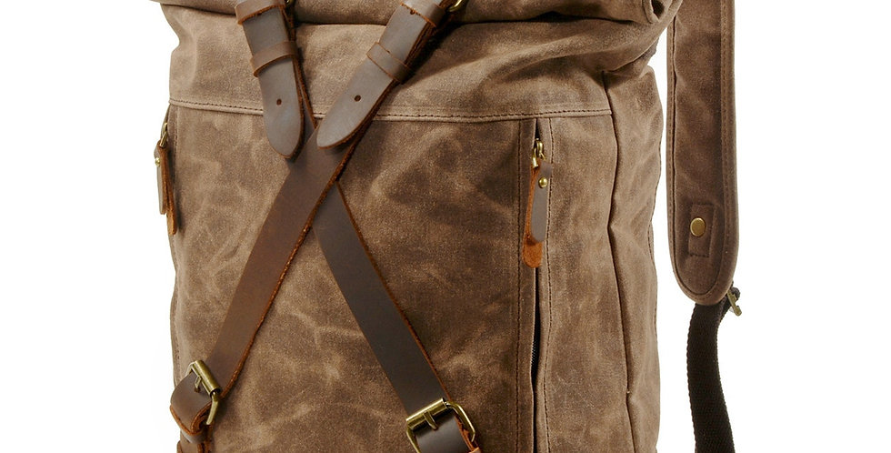 Hlurker Bag Waterproof Canvas Women Vintage Cowboy Backpack