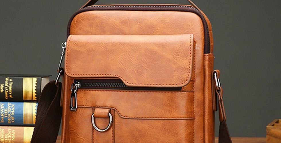 Small Briefcase Men's Messenger Bag Men Leather Shoulder Bags