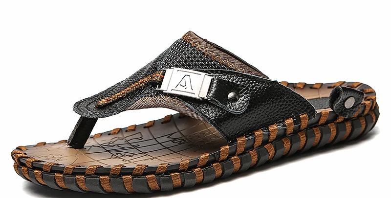 Men's Sandals Shoes Genuine Leather
