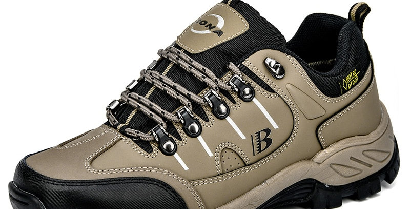 BONA Men Hiking Shoes Action Leather Men Athletic Shoes Outdoor