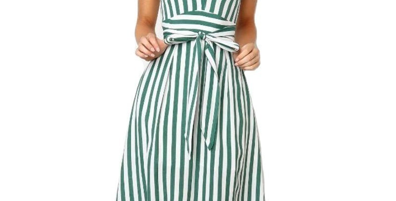 T-Shirt Dress Drawstring High Waist Elegant