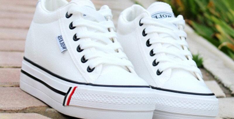 Breathable Canvas Women Sneakers Platform Shoes